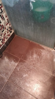 Corner tile displaying before and after treatment comparison